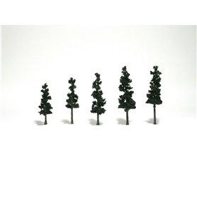 "Woodland WTR1560 2-4"" Conifer Grn Trees 5/Pk"