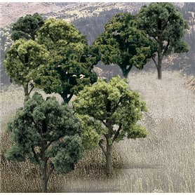 Woodland WTR1572 3-5In Green Decid Trees 14/Pkg