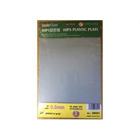 Trumpeter 08002 0,5mm HIPS plastic sheet A4 x 2pcs