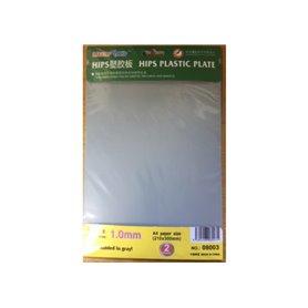 Trumpeter 08003 1,0 mm HIPS plastic sheet A4 x2pcs