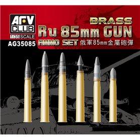 AFV Club AG35085 Ru 85mm Gun Ammo - Brass
