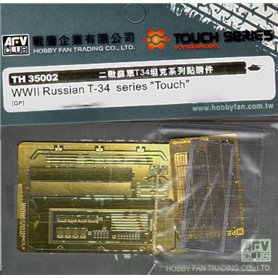 AFV Club TH35002 WWII T-34 etching parts - engine
