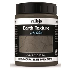 Vallejo GROUND TEXTURE Dark earth / ciemna ziemia - masa modelarska / 200ml