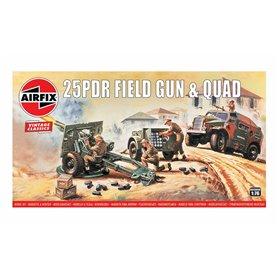 Airfix 01305V 25Pdr Field G&Q 1/76 Vintage