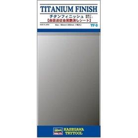 Hasegawa TF3 TITANIUM FINISH 90mm x 200mm