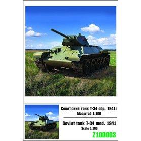 Zebrano 1:100 T-34 Model 1941