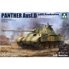 Takom 2104 Panther Ausf. D Late w/ Full Int.&Zimm.