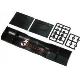 3Racing 185mm PP Side Wings For 1/10 Touring Car Black