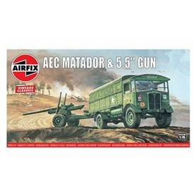 Airfix 01314V AEC Matador and 5,5 inch Gun 1/76