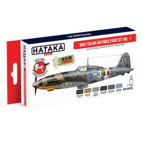 Hataka AS103 WW2 Italian Air Force paint set vol.1