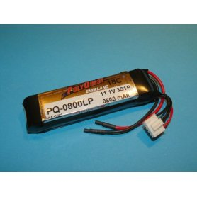 Pakiet LiPol Polyquest  800mAh 11,1V 18C