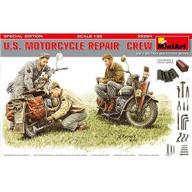 Mini Art 1:35 US MTORCYCLE REAPIR CREW - SPECIAL EDITION | 3 figurines |
