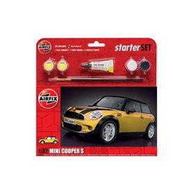 Airfix 1:32 Mini Cooper S - STARTER SET - z farbami