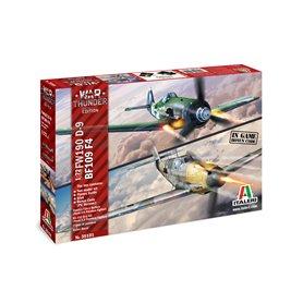 Italeri 1:72 WAR THUNDER: Messerschmitt Bf-109 F-4 and Focke Wulf Fw-190 D-9