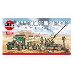 Airfix VINTAGE CLASSICS 1:76 40MM BOFORS GUN AND TRACTOR