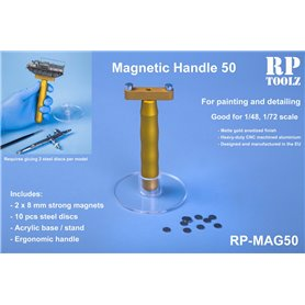 RP TOOLZ Magnetic handle with stand+10 pcs steel discs