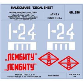 Weikert 1:16 Kalkomanie Armia Sowiecka - CZOŁG T-34/85 - front wschodni 1943-45 - vol.6