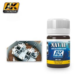 AK Interactive AK-301 Dark Wash For Wood Decks