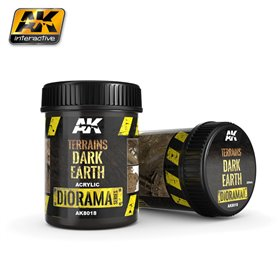 AK Interactive AK-8018 Terrains Dark Earth - 250ml (Acrylic)