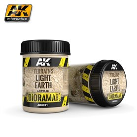 AK Interactive AK-8021 Tekstura akrylowa - Terrains Light Earth - 250ml (Acrylic)