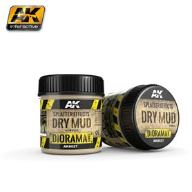 AK Interactive AK-8027 Splatter Effects Dry Mud - 100ml (Acrylic)