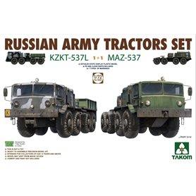 Takom 5003 Rus. Tractors KZKT-537L & MAZ-537 1+1