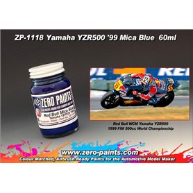 Zero Paints 1118 Yamaha YZR500 1999 Red Bull Blue
