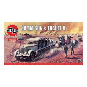 Airfix VINTAGE CLASSICS 1:76 88MM GUN AND TRACTOR