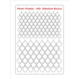 Szablon Dragon Scale L