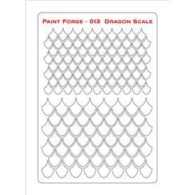 Szablon Dragon Scale M
