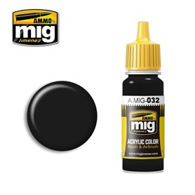Ammo of MIG Farba akrylowa SATIN BLACK