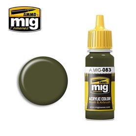 Ammo of MIG Farba akrylowa Zashchitniy Zeleno - Russian Postwar Green - 17ml