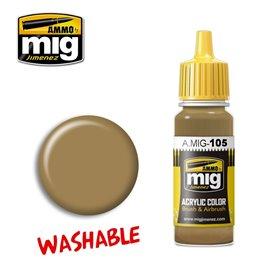 Ammo of MIG Farba akrylowa Washable Dust - RAL 8000 - 17ml