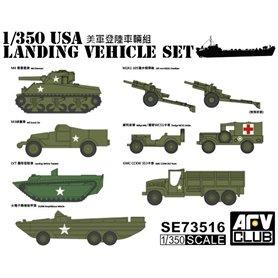 AFV Club SE73516 USA Landing Vehicle Set
