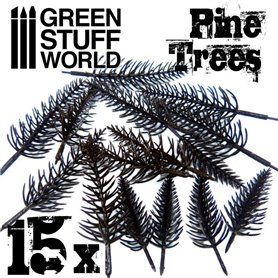 Green Stuff World MODEL TREE PINE TRUNKS - 15szt.