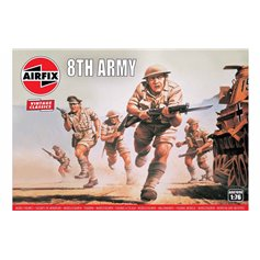 Airfix VINTAGE CLASSICS 1:76 WWII BRITISH 8TH ARMY