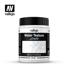 Vallejo WATER TEXTURE - sztuczna woda - TRANSPARENT WATER - 200ml