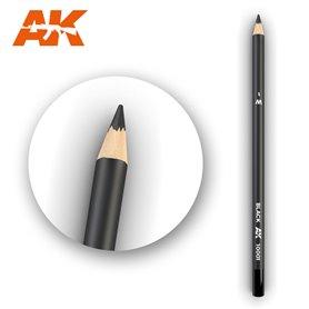 AK Interactive WATERCOLOR PENCIL - ołówek do weatheringu - BLACK