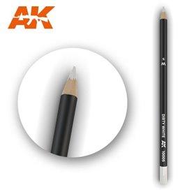 AK Interactive WATERCOLOR PENCIL - ołówek do weatheringu - DIRTY WHITE