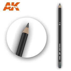AK Interactive WATERCOLOR PENCIL - ołówek do weatheringu - DARK GREY