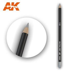 AK Interactive WATERCOLOR PENCIL - ołówek do weatheringu - NEUTRAL GREY