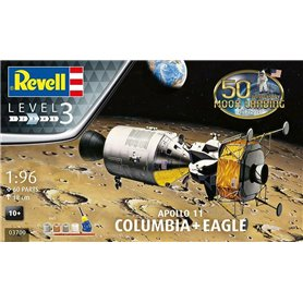 Revell 1:96 50TH MOON LANDING ANNIVERSARY - Apollo 11 - Columbia i Eagle - z farbami