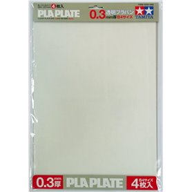 Tamiya 70191 Clear Pla-Plate 0.3mm B4 *4