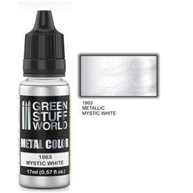Green Stuff World Metallic Paint MYSTIC WHITE - 17ml