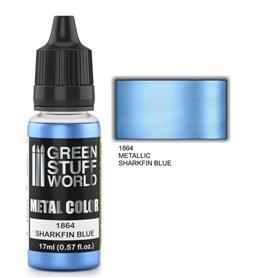 Green Stuff World Metallic Paint SHARKFIN BLUE - 17ml