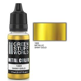 Green Stuff World Metallic Paint SHINY GOLD - 17ml