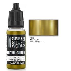 Green Stuff World Metallic Paint ANTIQUE GOLD - 17ml