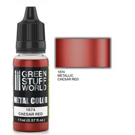 Green Stuff World Metallic Paint CAESAR RED - 17ml