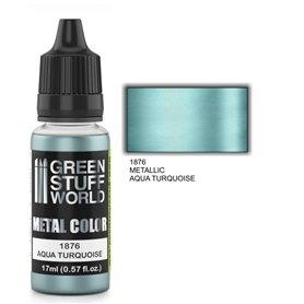 Green Stuff World Metallic Paint AQUA TURQUOISE - 17ml