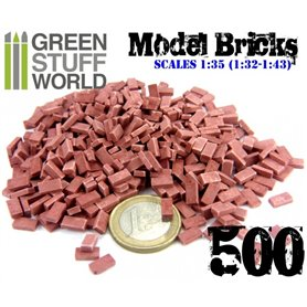 Green Stuff World Model Bricks - Red x500